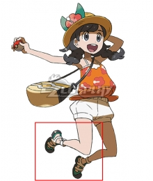 Pokemon Pokémon Ultra Sun and Ultra Moon Elio Red Cosplay Shoes