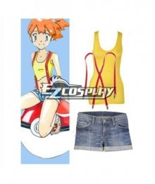 Pokemon Pocket Monster Misty Cosplay Costume