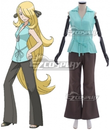 Pokemon Sun and Moon Cynthia Cosplay Costume - A Edition