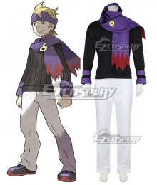Pokemon Pokémon HeartGold and SoulSilver Morty Cosplay Costume