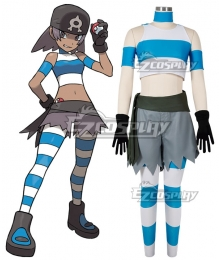 Pokemon Team Aqua Grunt Female Cosplay Costume - B Edition