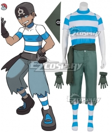 Pokemon Team Aqua Grunt Male Cosplay Costume - A Edition