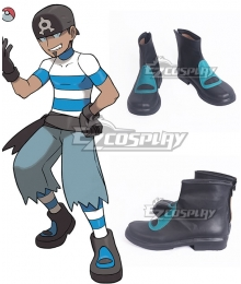 Pokemon Team Aqua Grunt Male Female Black Cosplay Shoes