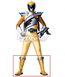 Power Rangers Dino Charge Dino Charge Gold Ranger Golden Shoes Cosplay Boots