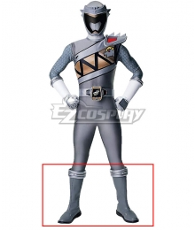Power Rangers Dino Charge Dino Charge Graphite Ranger Silver Shoes Cosplay Boots
