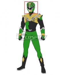 Power Rangers HyperForce HyperForce Green Helmet Cosplay Accessory Prop