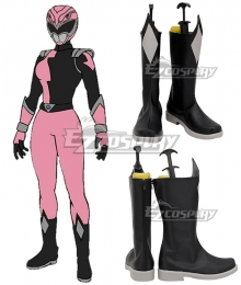 Power Rangers HyperForce HyperForce Pink Black Shoes Cosplay Boots