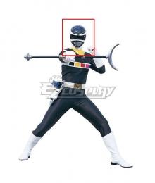 Power Rangers In Space Black Space Ranger Helmet Cosplay Accessory Prop