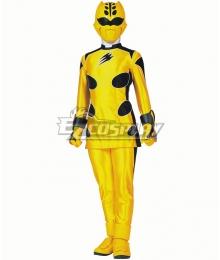 Power Rangers Jungle Fury Jungle Fury Yellow Ranger Cosplay Costume
