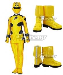Power Rangers Jungle Fury Jungle Fury Yellow Ranger Yellow Cosplay Shoes