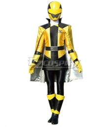Power Rangers Kaitou Sentai Lupinranger VS Keisatsu Sentai Patranger Lupin Yellow Cosplay Costume