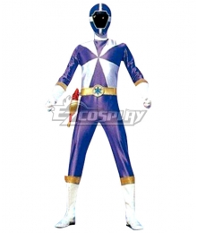 Power Rangers Lightspeed Rescue Blue Lightspeed Ranger Cosplay Costume