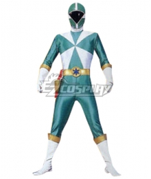 Power Rangers Lightspeed Rescue Green Lightspeed Ranger Cosplay Costume