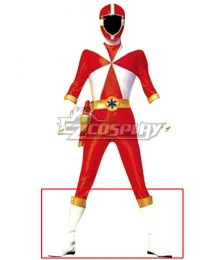 Power Rangers Lightspeed Rescue Lightspeed Ranger White Shoes Cosplay Boots
