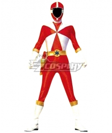 Power Rangers Lightspeed Rescue Red Lightspeed Ranger Cosplay Costume