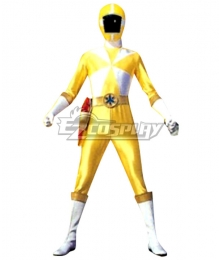 Power Rangers Lightspeed Rescue Yellow Lightspeed Ranger Cosplay Costume