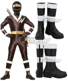 Power Rangers Ninja Sentai Kakuranger NinjaBlue Blue Shoes Cosplay Boots