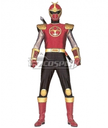 Power Rangers Ninja Storm Crimson Thunder Ranger Cosplay Costume