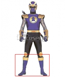 Power Rangers Ninja Storm Navy Thunder Ranger Purple Shoes Cosplay Boots