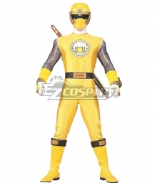 Power Rangers Ninja Storm Yellow Wind Ranger Cosplay Costume