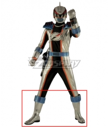 Power Rangers Operation Overdrive Mercury Ranger Sliver Shoes Cosplay Boots