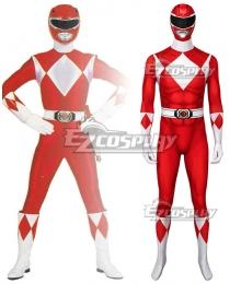 Mighty Morphin Power Rangers Red Ranger Zentai Jumpsuit Cosplay Costume