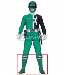 Power Rangers S.P.D. SPD Green Ranger Green Shoes Cosplay Boots