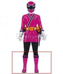 Power Rangers Samurai Pink Samurai Ranger Pink Shoes Cosplay Boots