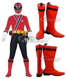 Power Rangers Samurai Red Samurai Ranger Red Shoes Cosplay Boots