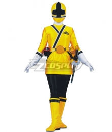 Power Rangers Samurai Yellow Samurai Ranger Cosplay Costume