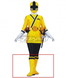 Power Rangers Samurai Yellow Samurai Ranger Yellow Shoes Cosplay Boots