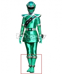 Power Rangers Super Sentai Mashin Sentai Kiramager Kiramai Green Shoes Cosplay Boots