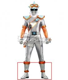 Power Rangers Super Sentai Mashin Sentai Kiramager Kiramai Silver Shoes Cosplay Boots