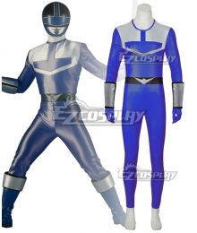 Power Rangers Time Force Time Force Blue Cosplay Costume