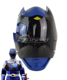 Power Rangers Uchu Sentai Kyuranger Ookami Blue Helmet Cosplay Accessory Prop