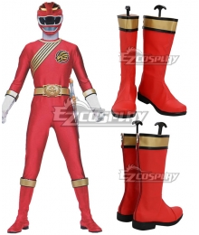 Power Rangers Wild Force Red Wild Force Ranger Red Shoes Cosplay Boots