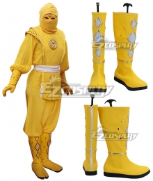 Power Rangers Yellow Ninjetti Ranger Yellow Cosplay Shoes