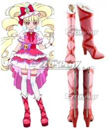 Pretty Cure Precure Pink Cure Macherie Shoes Cosplay Boots