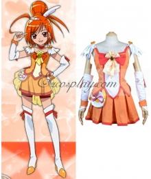 Pretty Cure Smile PreCure Hino Akane Cure Sunny Cosplay Costume