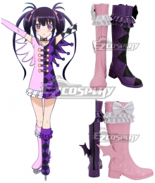 Pretty Rhythm Kaname Kurisu Kaname Chris Pink Purple Shoes Cosplay Boots
