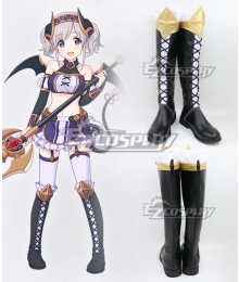 Princess Connect! Re:Dive Akari Kazemiya Black Shoes Cosplay Boots