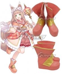 Princess Connect! Re:Dive Maho Himemiya Pink Cosplay Shoes