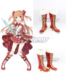 Princess Connect! Re:Dive Nozomi Sakurai Red Shoes Cosplay Boots