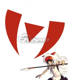 Princess Mononoke San Tattoo Sticker Cosplay Accessory Prop