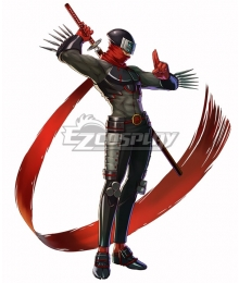 Project X Zone Shinobi Hotsuma Cosplay Costume - Only Top, Pant, Scarf, Gloves