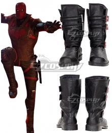 PS5 DC Gotham Knight Red Hood Jason Todd Black Cosplay Shoes