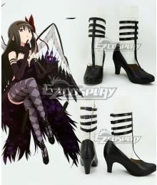 Puella Magi Madoka Magica Devil Homura Akemi Halloween Black Cosplay Shoes