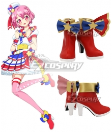 PuriPara Leona West Red Cosplay Shoes