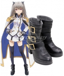 Qualidea Code Maihime Tenkawa Black Cosplay Shoes
