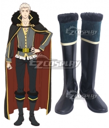 Rage Of Bahamut: Virgin Soul Charioce XVII Black Blue Shoes Cosplay Boots